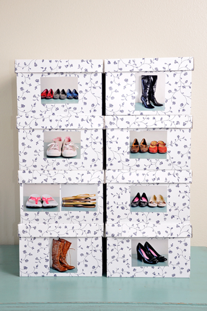 11 cool shoe storage diy projects you can make in a for Diy shoe storage with cardboard