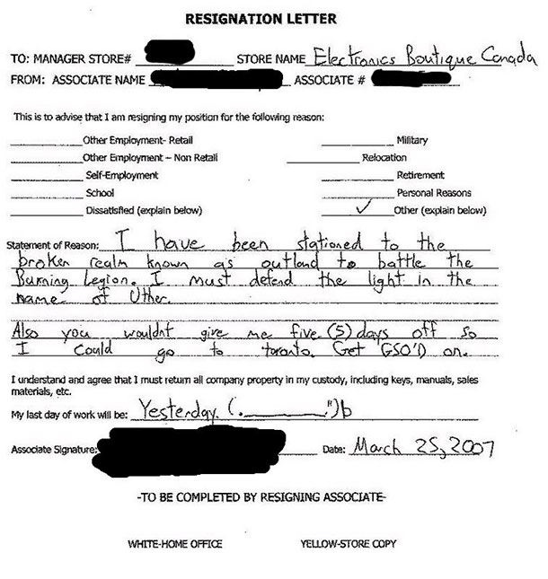 Most Hilarious Resignation Letters And Videos   Atchuup