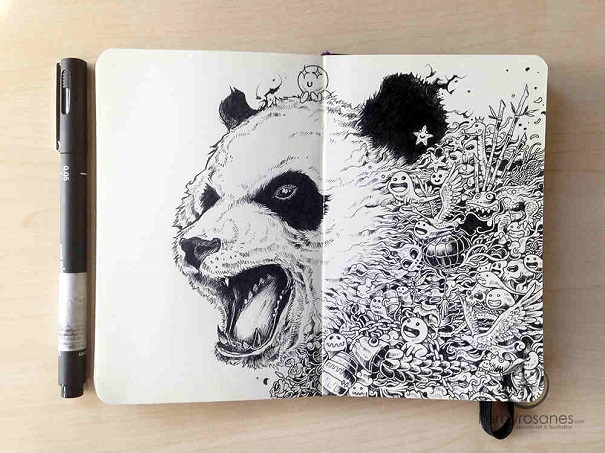 kerby rosanes - black and white cat-foot