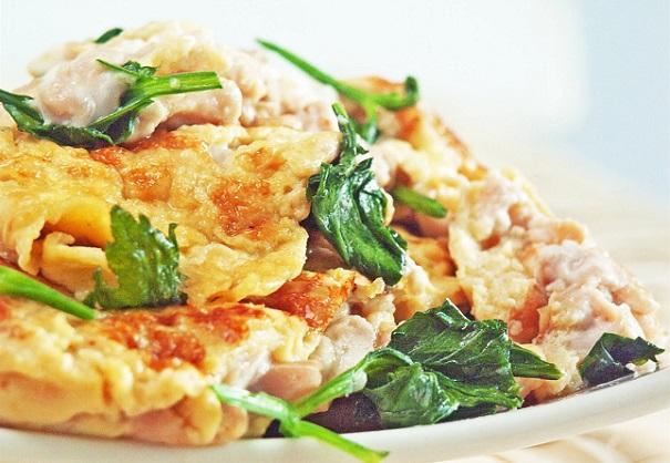 pig brain omelette