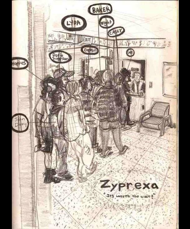 Trippy Self-Portraits -Zyprexa