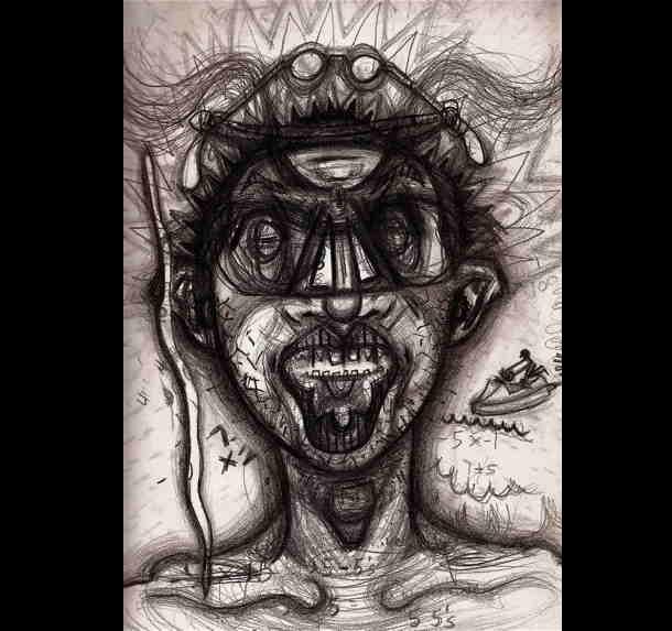 Trippy Self-Portraits - cocaine