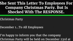 HR Emails Employees to Organize the Company Christmas Party. But This Unexpected Thing Happens.