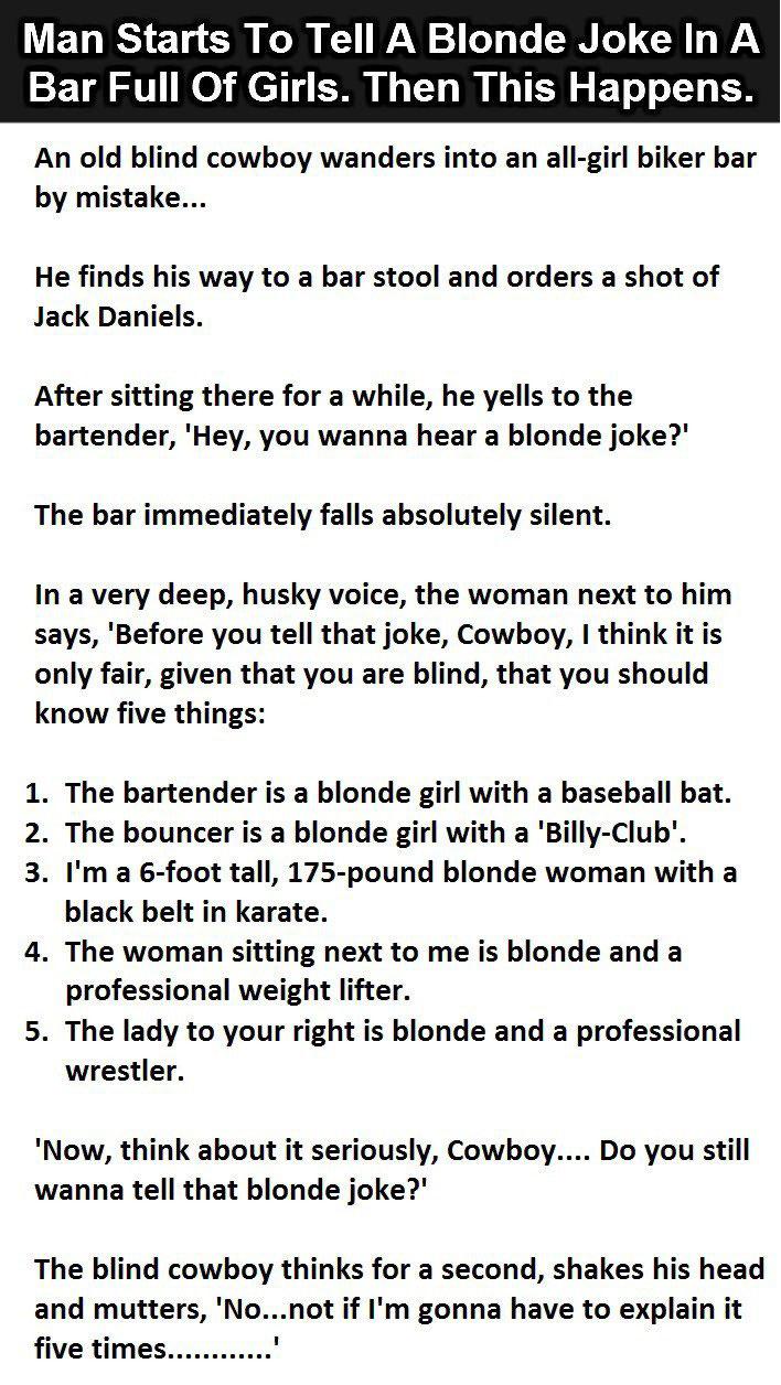 The Bravest Blonde Joke Teller Ever - Atchuup! - Cool