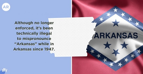 embarrassing state fact - arkansas