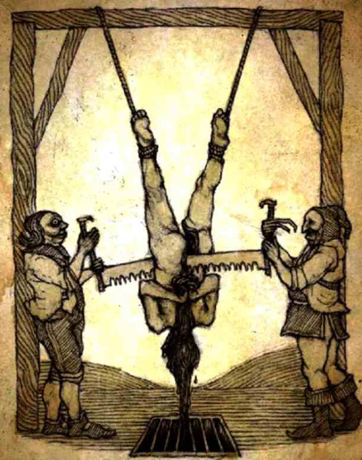 brutal torture devices - saw torture