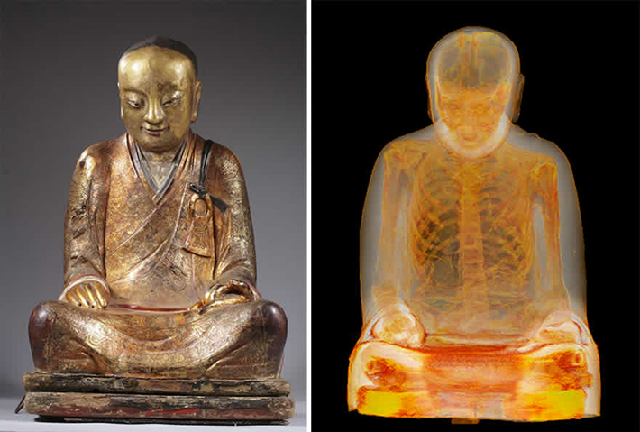 chinese monk mummy ct scan 1