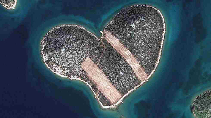 heart-shaped islands - galesnjak croatia