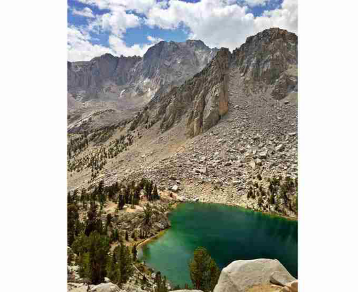 heart-shaped islands - heart lake eastern sierra nevada mountains calif