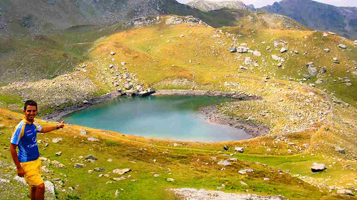 heart-shaped islands - heart lake junik mountains kosovo