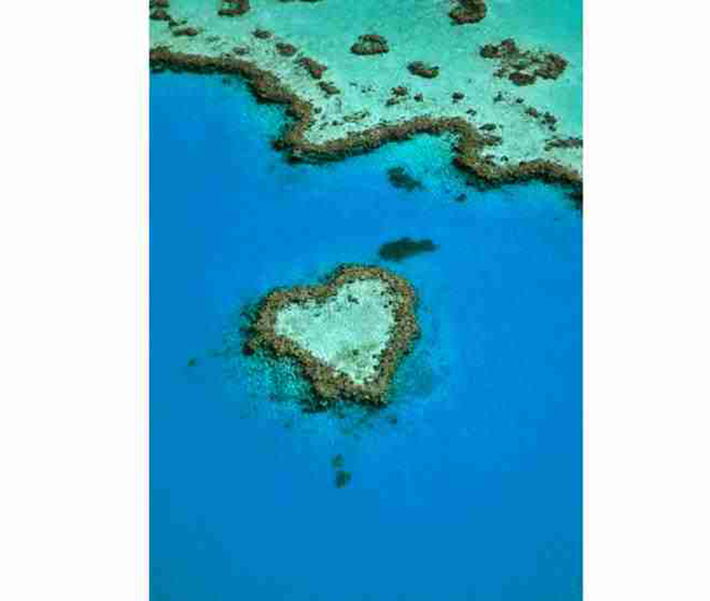 heart-shaped islands - heart reef australia