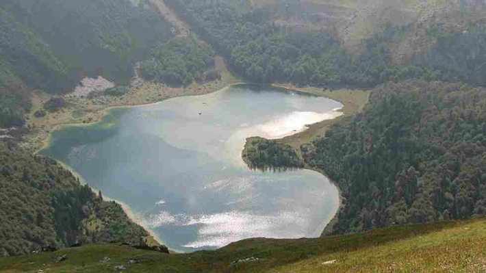 heart-shaped islands - trnovacko lake montenegro