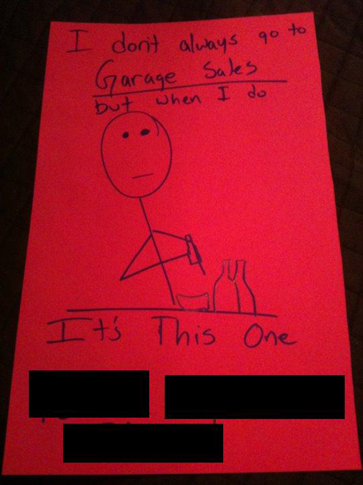clever garage sale signs 16