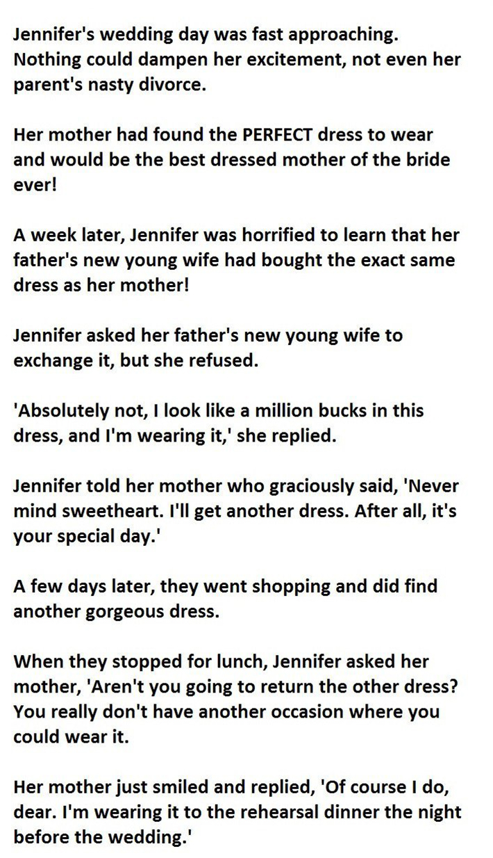 Brides mom prevents wedding night from being ruined what she did dress junglespirit Image collections