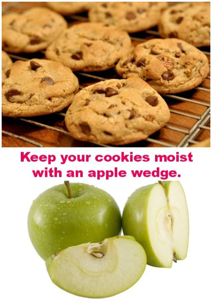 food hacks -  apples keep cookies fresh