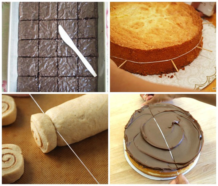food hacks - cut cakes dental floss