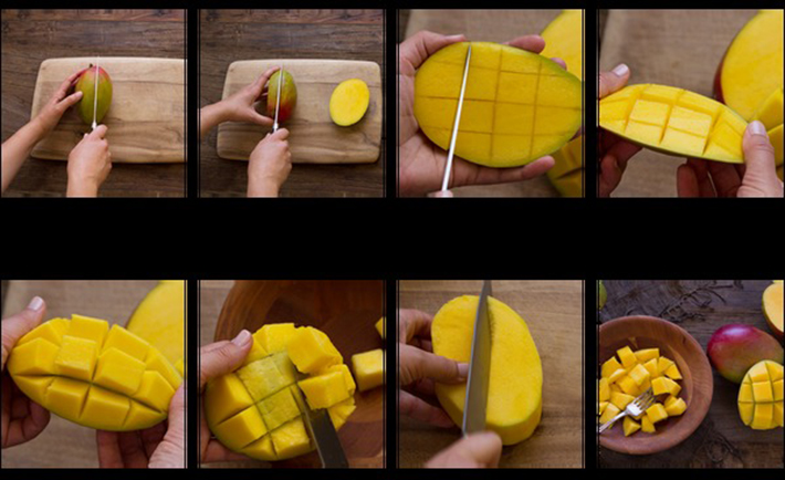 food hacks - cut mango