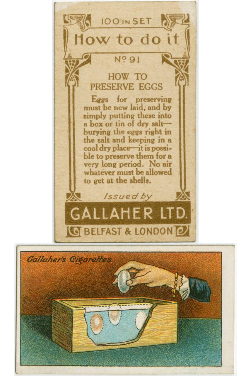 100 yr old lifehacks - preserve eggs