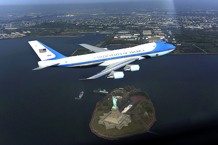 heavily guarded places - air force one