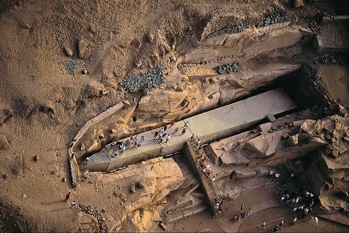 unfinished obelisk - aswan egypt