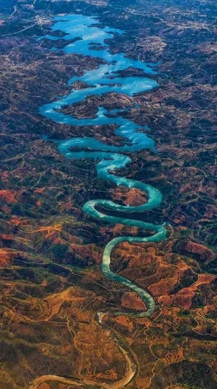 aerial photos - blue dragon river