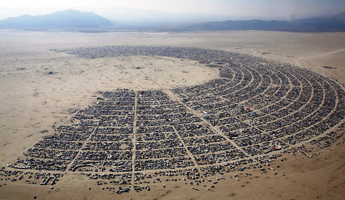 aerial photos - burning man