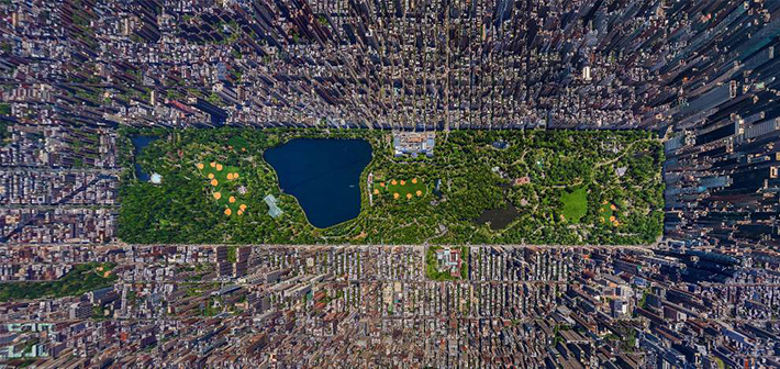 aerial photos - central park NYC
