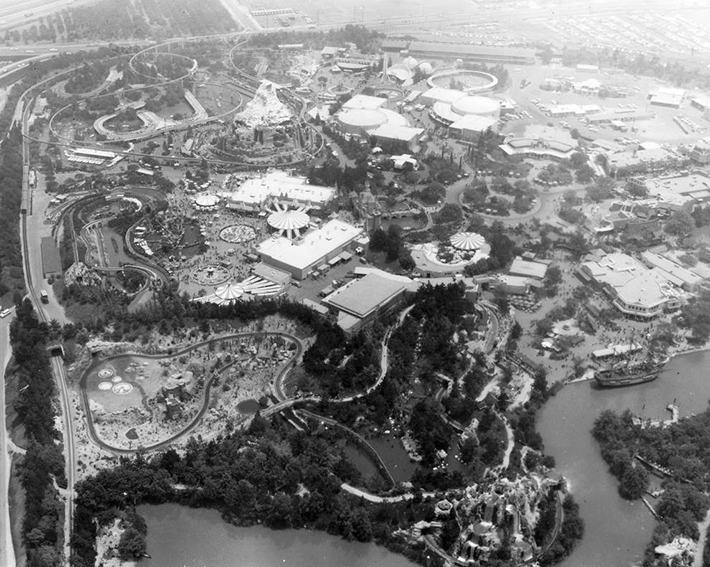 aerial photos - disneyland 1962
