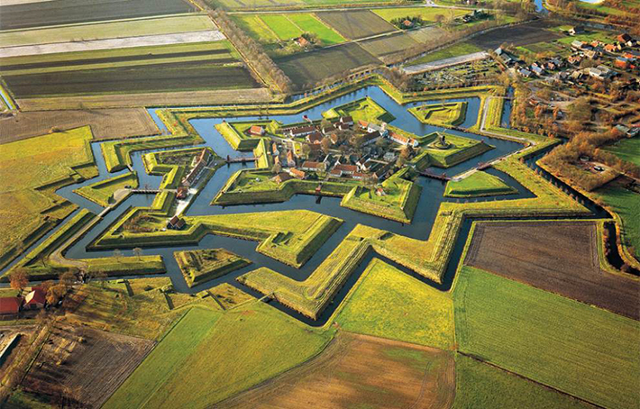 aerial photos - fort bourtange