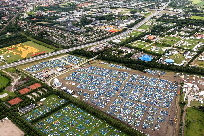 aerial photos - glastonbury