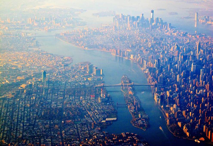 aerial photos - manhattan and queens