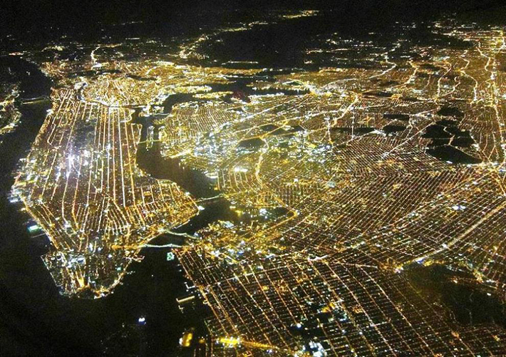 aerial photos - nyc night