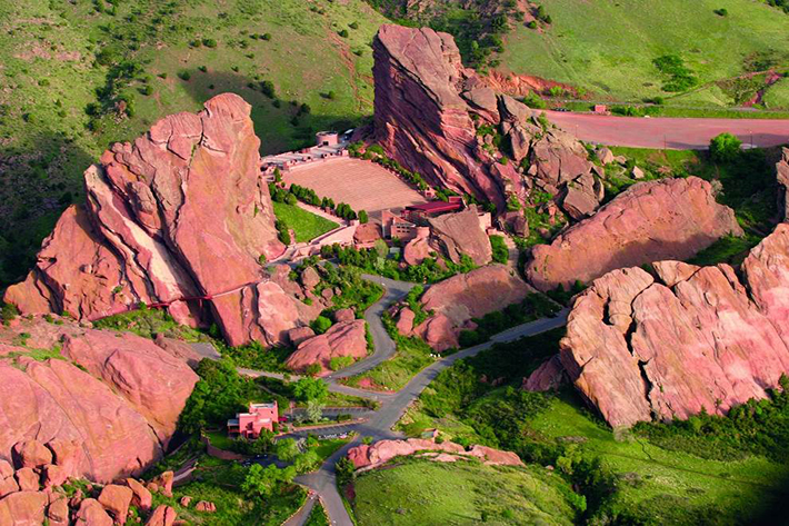 aerial photos - red rocks