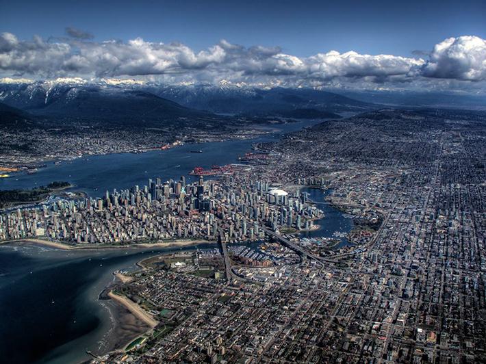 aerial photos - vancouver