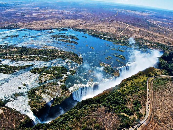 aerial photos - victoria falls