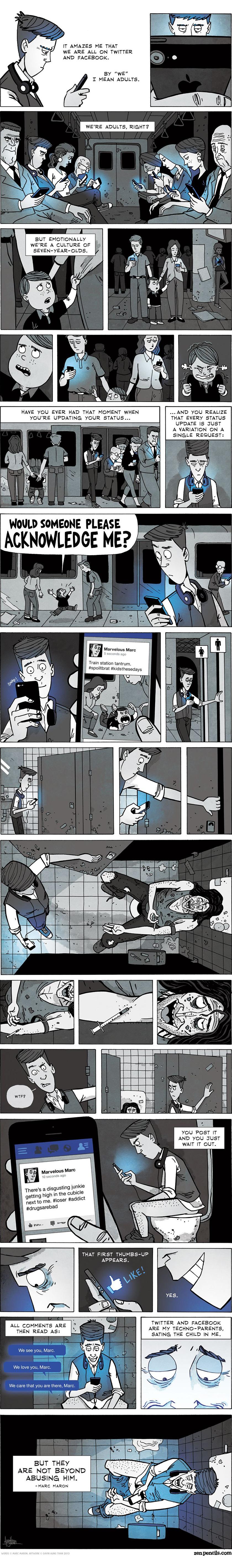 comic strip - social media