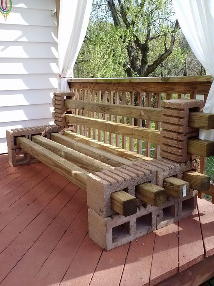 Fantastic These 19 Awesome Projects Prove That Cinder Blocks Are Squirreltailoven Fun Painted Chair Ideas Images Squirreltailovenorg