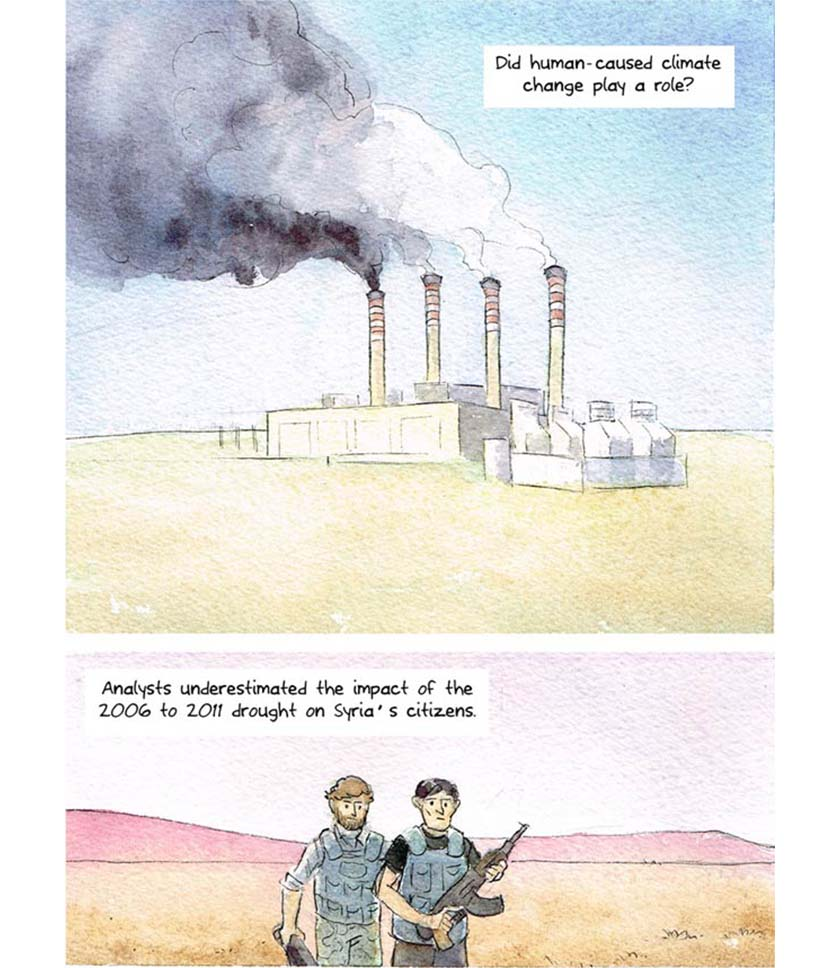 syria climate conflict - comic strip 11