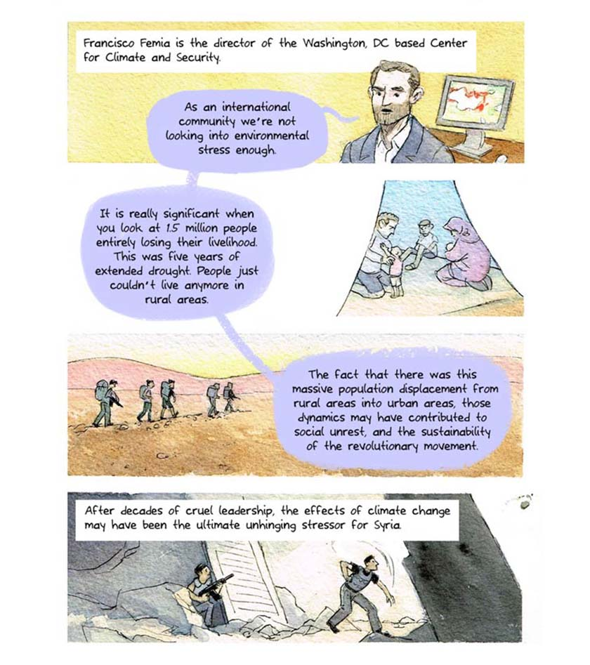 syria climate conflict - comic strip 12