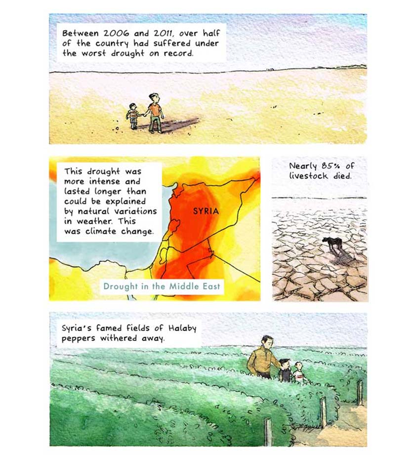 syria climate conflict - comic strip 2