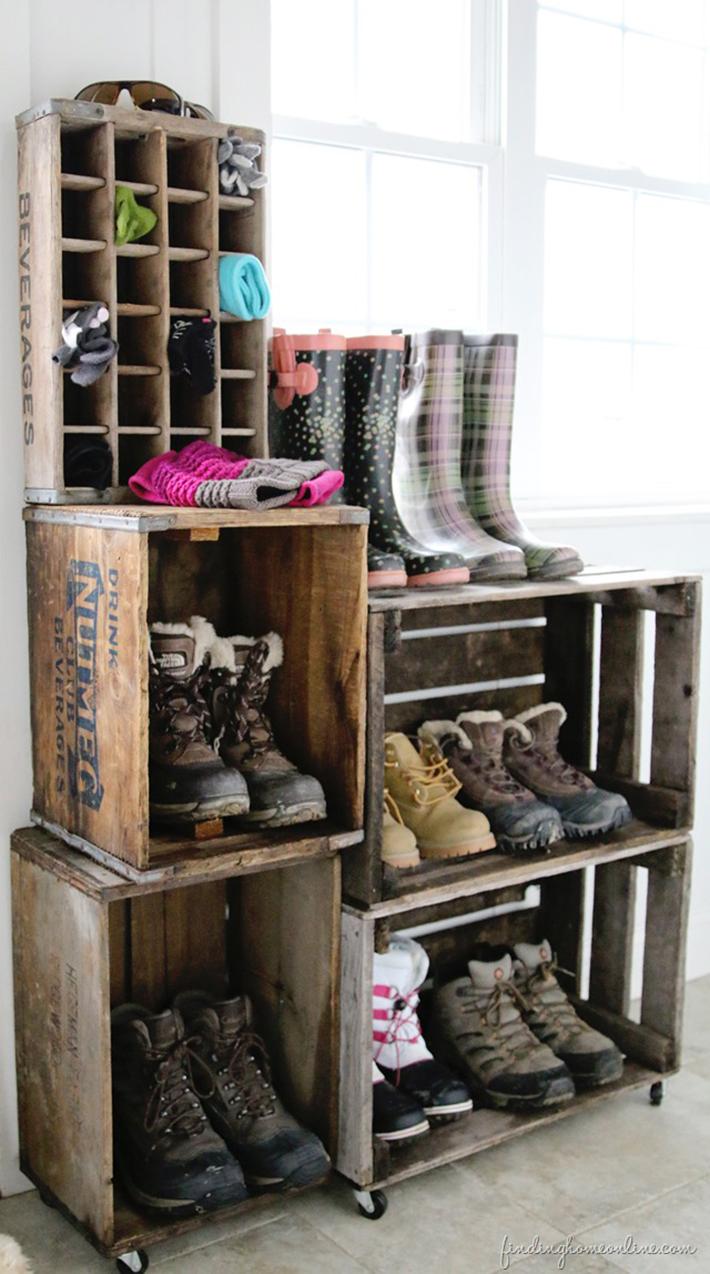 shoe storage diy ideas 1