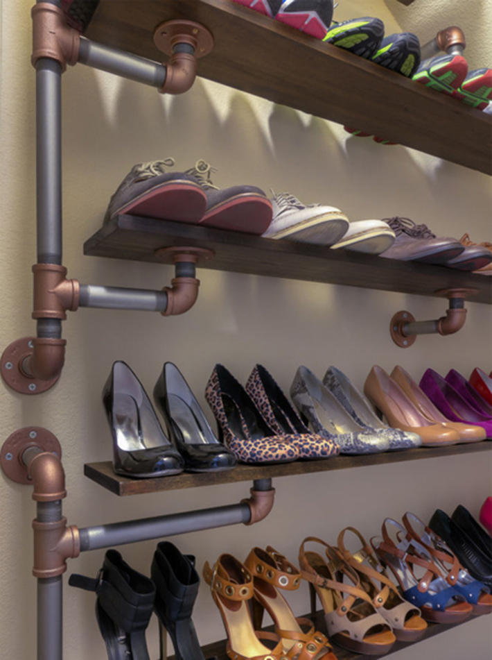 11 cool shoe storage diy projects you can make in a for Cool diy storage ideas