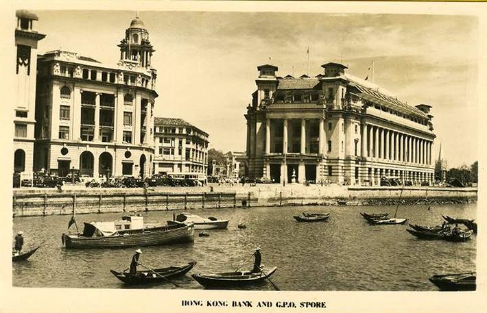 vintage postcards - singapore 10