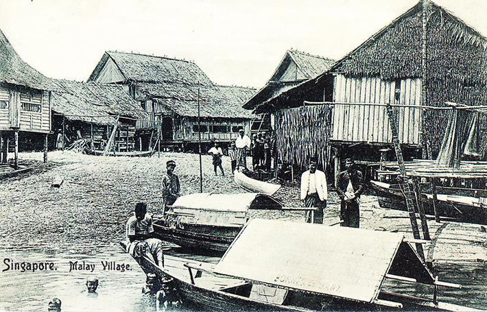 vintage postcards - singapore 14