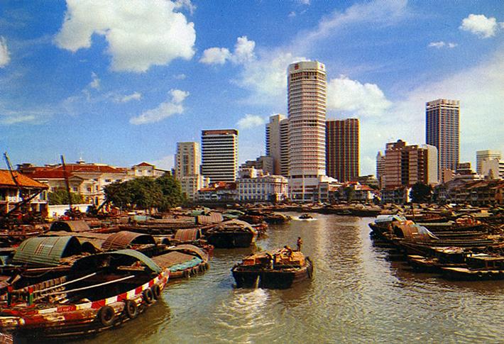 vintage postcards - singapore 3