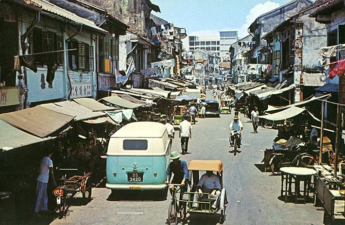 vintage postcards - singapore 4