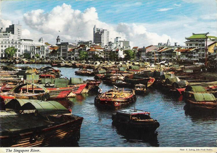 vintage postcards - singapore 9